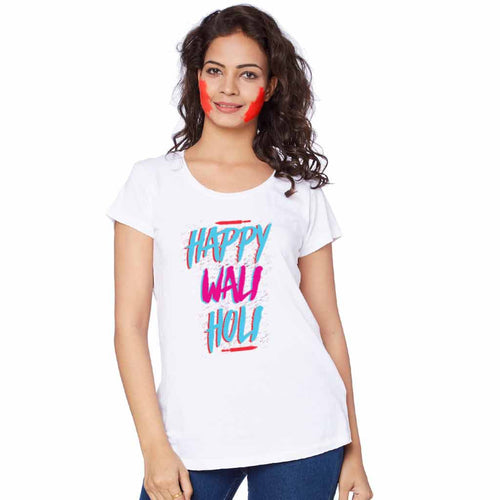 Happy Wali Holi Bro & Sis Holi Tees for sister