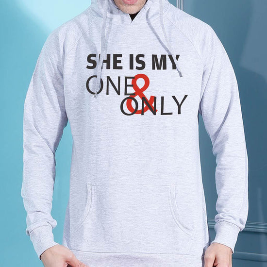 He Is My One And Only, Matching Hoodie For Men And Crop Hoodie For Women