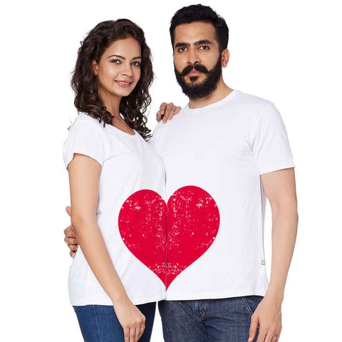 Heart In Couple Tees