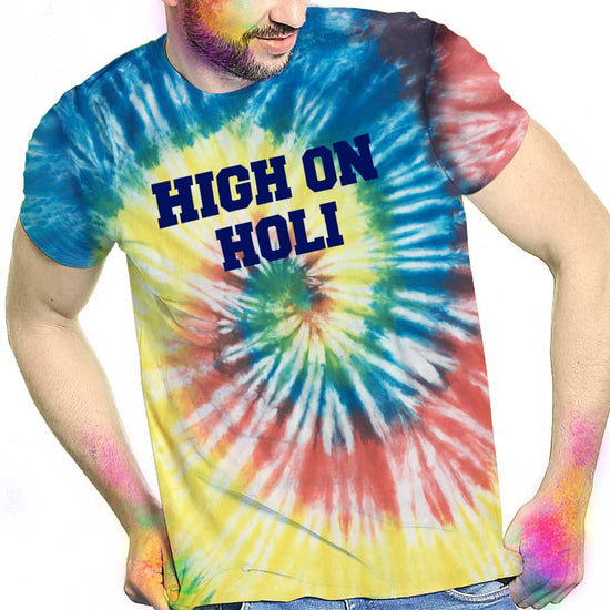 High On Holi, Tie & Dye Matching Tees For Dad & Son