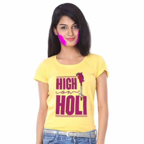 High On Holi Bro & Sis Holi Tees