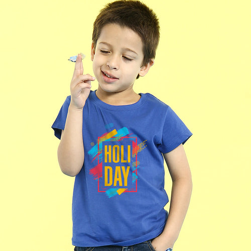 Holi Day , Matching Tees For Family for son