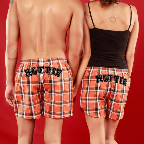 Hottie, Matching Check Couple Boxers