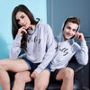 Hubby Wifey, Matching Hoodie For Men And Crop Hoodie For Women