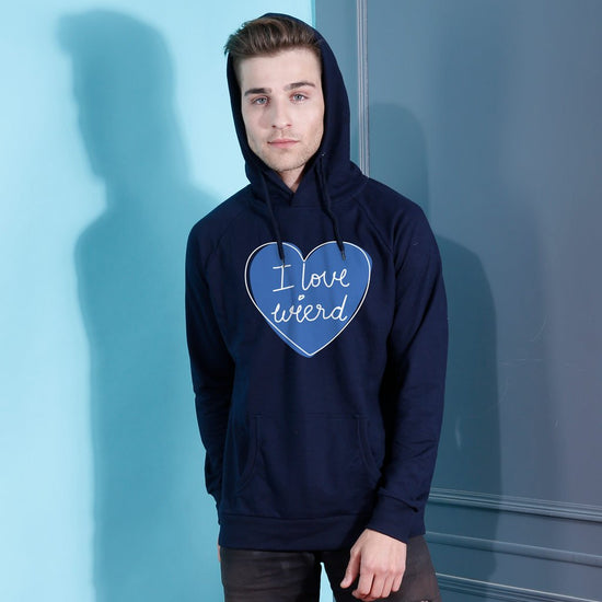 I am wierd/ I Love Wierd Hoodies For Men