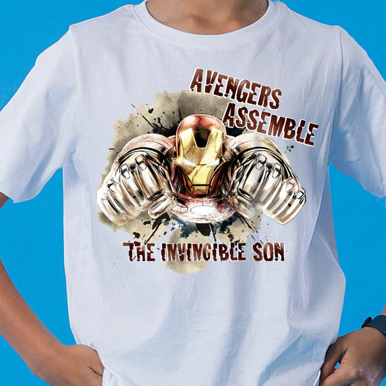 Avengers Assemble Dad/Son, Matching Marvel Tees For Dad And Son