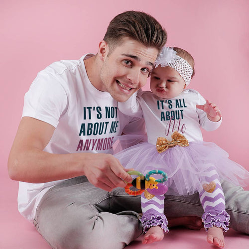 It's All About Me, Matching Tee And Bodysuit For Dad And Baby (Girl)