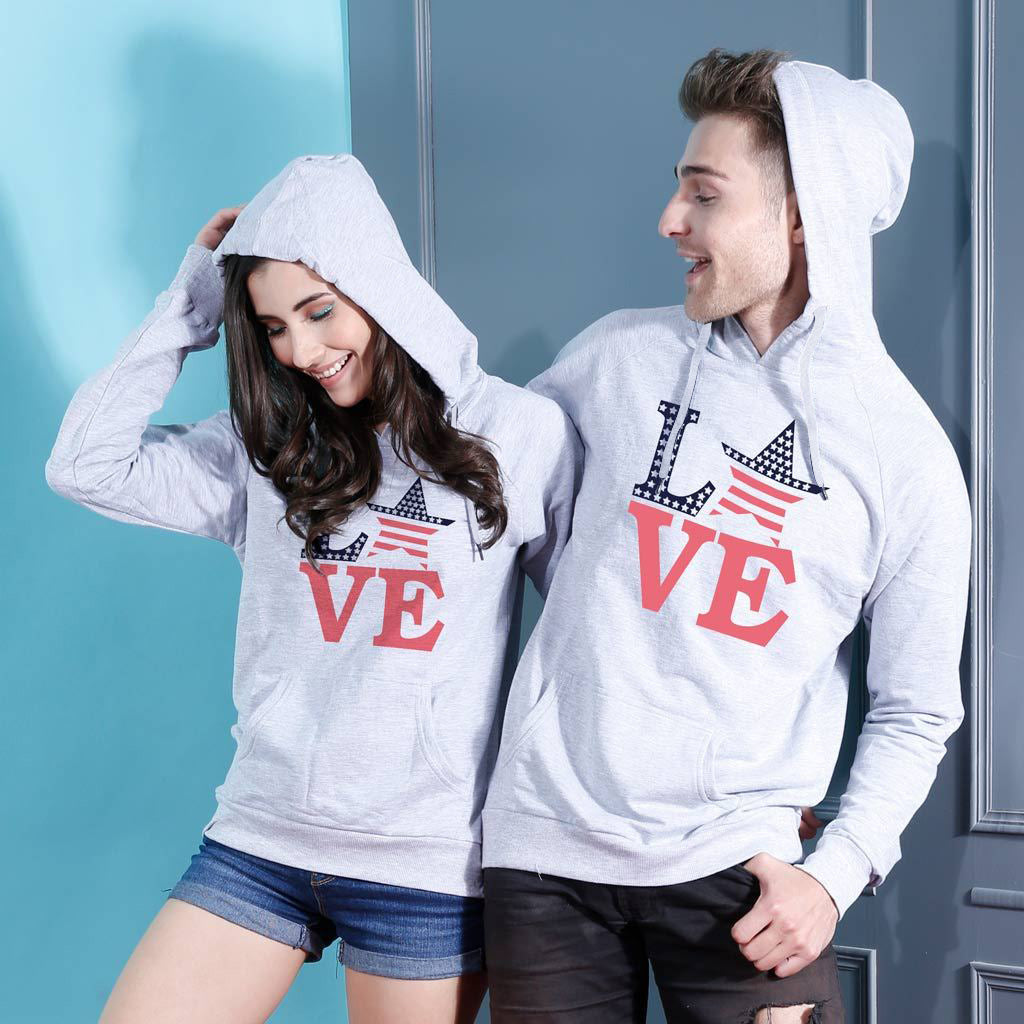 f20f2676 American love, Matching Hoodies For Couples