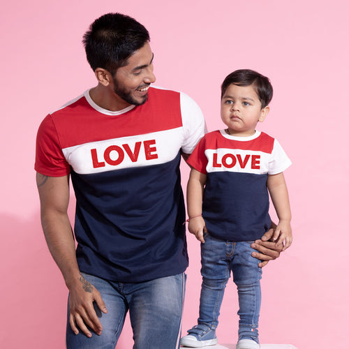 Love Matching Tees For Dad and Son