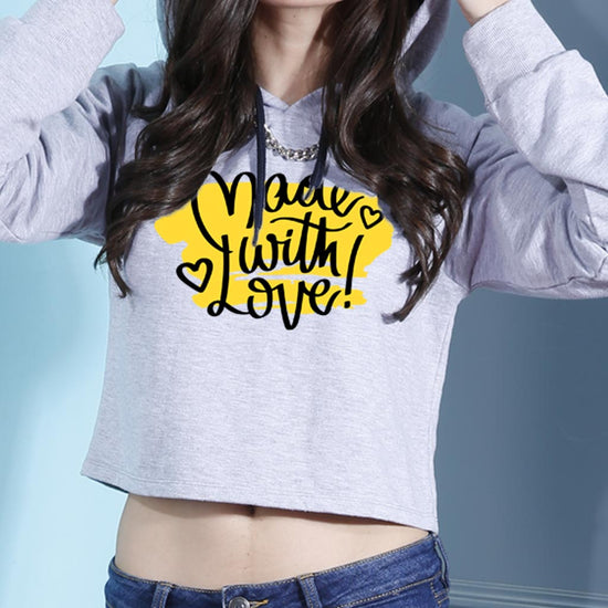 Made With Love Crop Hoodie