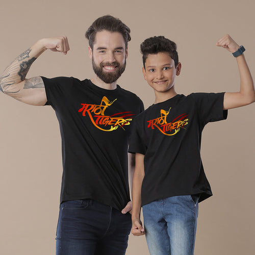 Marathi Tigers, Matching Regional Tees For Dad And Son