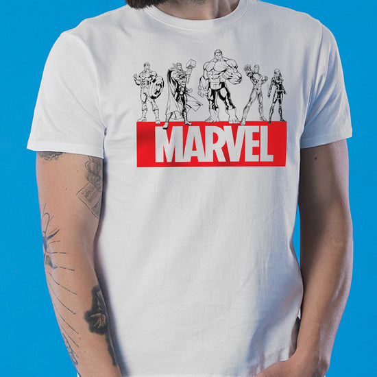 Marvel Squad, Matching Marvel Tees For Dad And Son