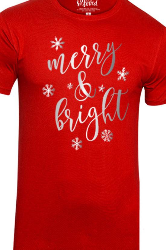 Festive Merry  and Bright, Dad And Baby Bodysuit And Tees
