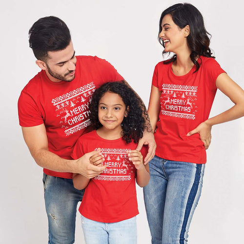 Merry Christmas, Matching Tees For Family