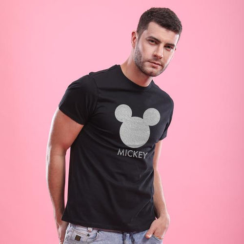 Cute Mickey/Minnie Face, Disney Tee For Men