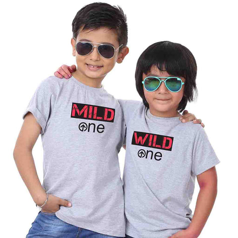 Wild one and Mild One Tees