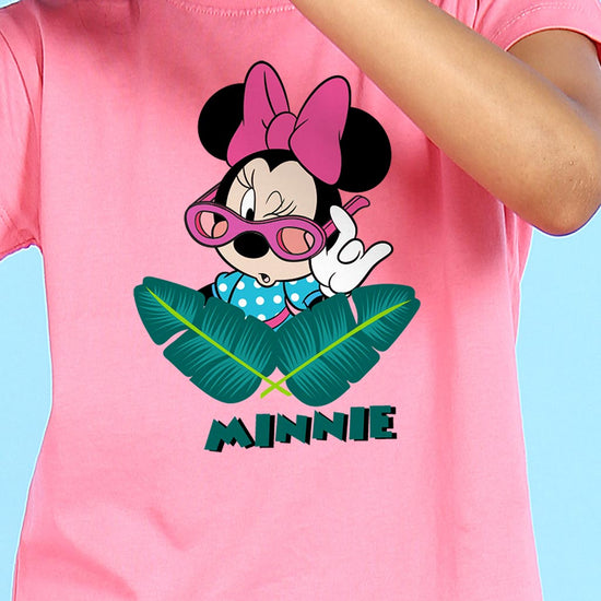 Tropical Minnie, Disney Tee For Girls
