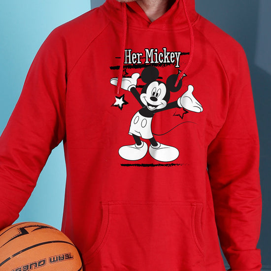 Her Mickey/His Minne, Disney  Hoodie For Men And Crop Hoodie For Women