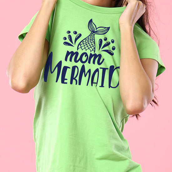 Mermaid, Matching Tee And Bodysuit For Mom And Baby (Girl)