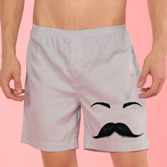 Moustaches and Eye lashes, Matching Couple Boxers