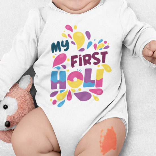My First Holi Babysuit