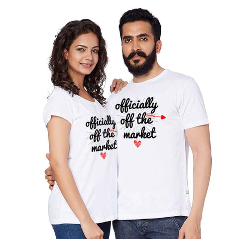 Officially Off The Market Couple Tees