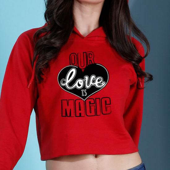Our Love Is Magic Crop Hoodie