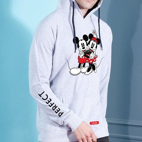 Perfect Match Disney Matching Hoodie For Men And Crop Hoodie For Women