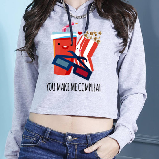 You Make Me Complete Crop Hoodie
