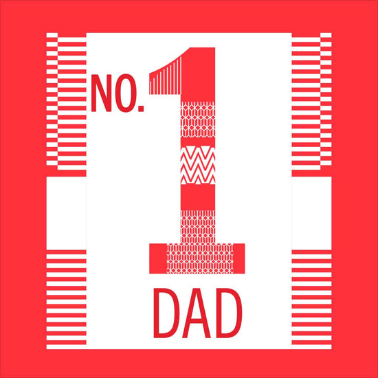 Red No.1 Dad, Daughter and Son Tee