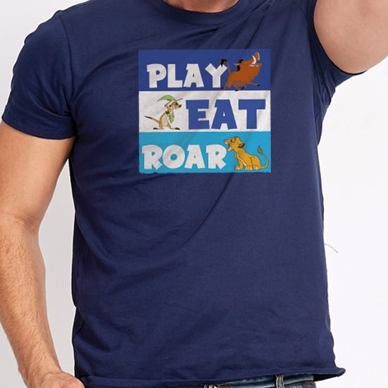 The Lion King: Eat ,Play,Roar, Disney Tees For Dad And Son