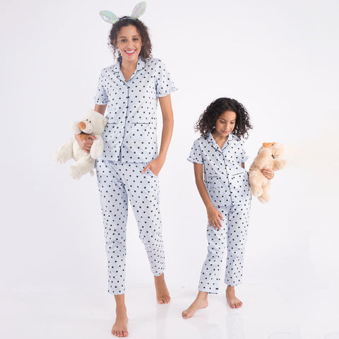 Polka Love, Matching Sleepwear For Mom And Daughter