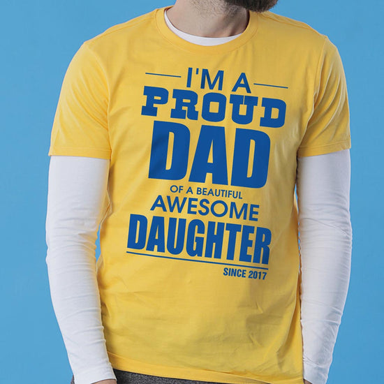 Proud Dad, Personalized Tee For Dad