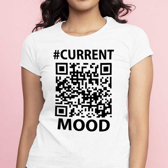 Current Mood Matching Qr Code Matching Tees For Couples