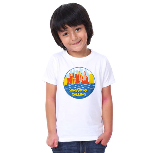 Singapore Calling Family Tees for son
