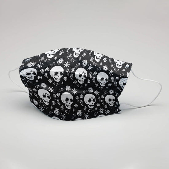 Men Skulls Printed Protective Masks( Set Of 3)