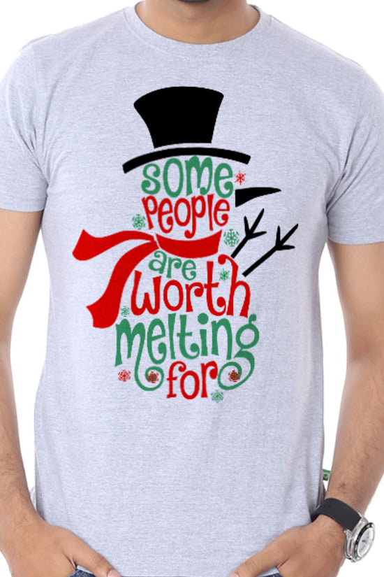 Some People Are Worth Melting Single Tee For Men