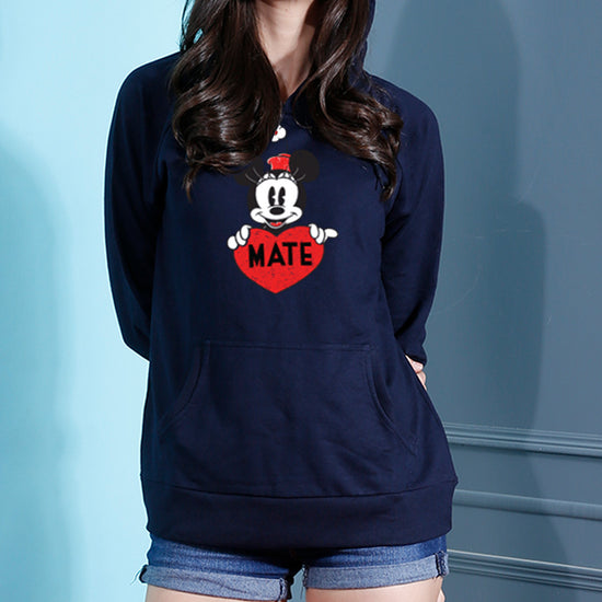 Soul Mate, Disney Matching Navy Blue Hoodies For Couples