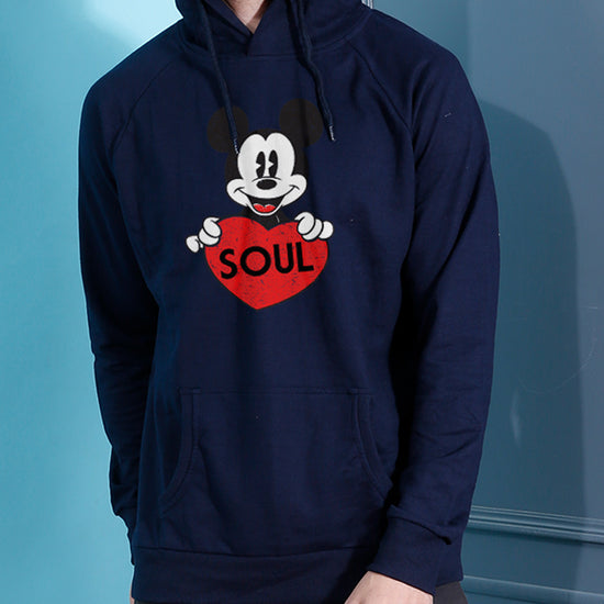 Soul Mate, Disney Matching Navy Blue Hoodie For Men And Crop Hoodie For Women