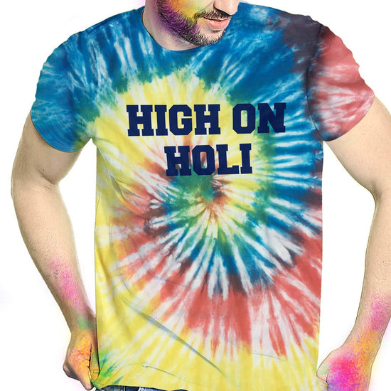 High On Holi, Tie & Dye Matching Bro & Sis Holi Tees