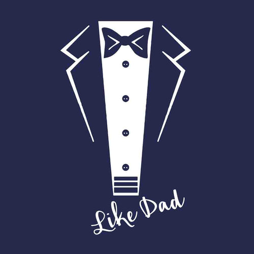 Navy Like Dad And Son Tshirt