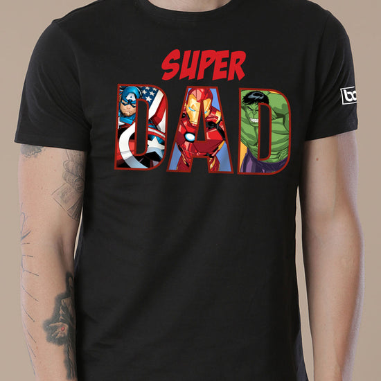 Super Dad/Girl, Dad And Daughter Marvel Matching Tees