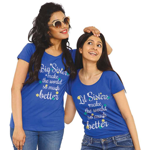 T-Shirt - Big/Lil Sisters Make The World So Much Better Tees