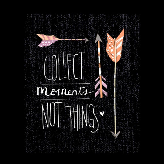 Collect Moments Not things Family Tees
