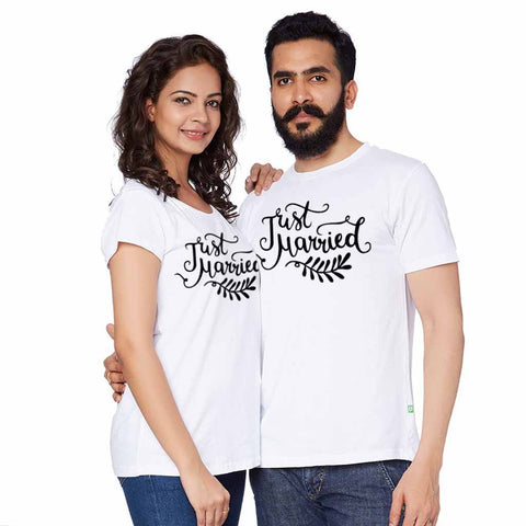 Just Married White Tees