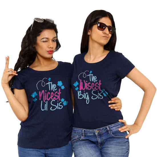 a5469011de The Nicest lil sis/ The wisest big sis Tees ...