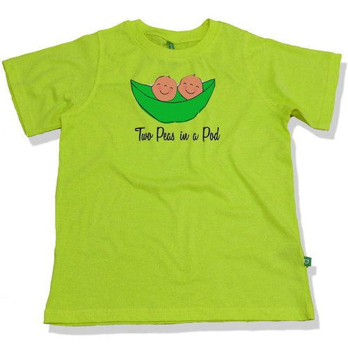 T-Shirt - Two Peas In A Pod Combo Tee For Twins