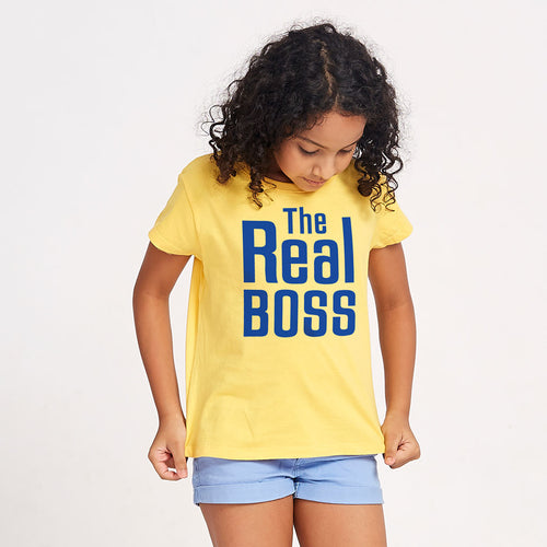 The Real Boss, Matching Tees For Mom And Daughter