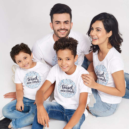 Travel New Roads, Matching Family Tees