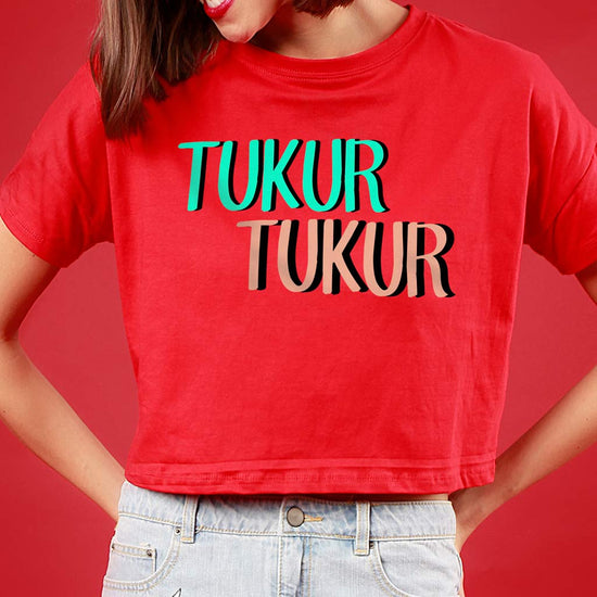 Tukur Tukur, Matching Couple Crop Top And Tee